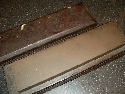 "8"" x 2"" Sharpening Stone In Wooden Box - As Photo"