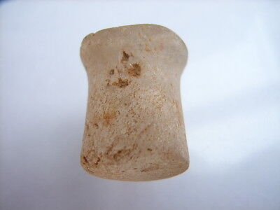 1 Ancient Neolithic Rock Crystal Ear Plug, Stone Age, VERY RARE !!