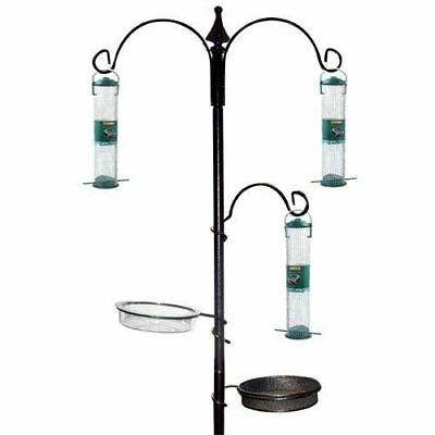 New Wild Bird Feeding Station With Feeders Garden Hanging Water Table Seed Tray