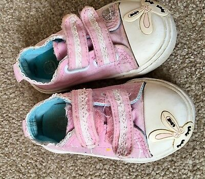 Pink Cool Club Canvas Shoes Trainers Size 5 Infant