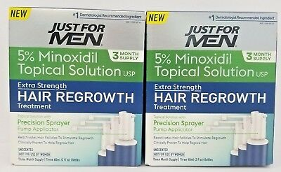 Minoxidil 5% Extra Strength Hair Loss Treatment 6oz 3 Months Supply -2 Pack