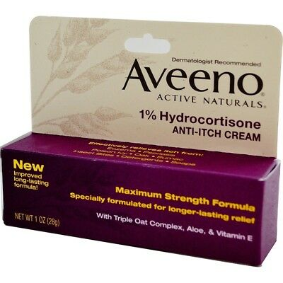 Aveeno, Active Naturals, Anti-Itch Cream, 1 oz (28 g)