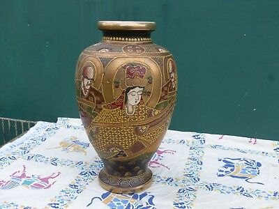 "Ancien Grand Vase en faïence ""Satsuma"" JAPON"