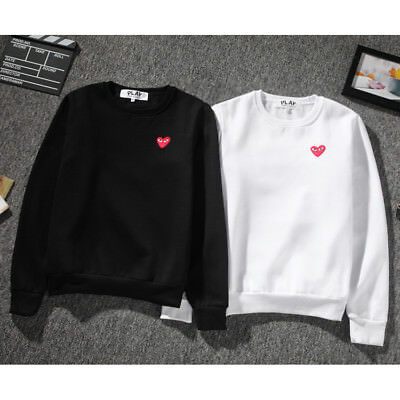 e800ee619c865c 2018 Men s Comme Des Garcons CDG Play Hoodie red heart Sweater Play Women  Coat