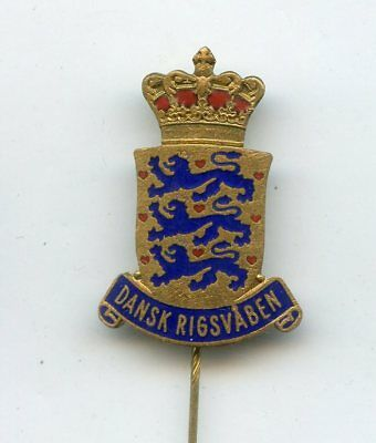 DANMARK WAPPEN Coat of Arms nadel abzeichen pin badge vintage
