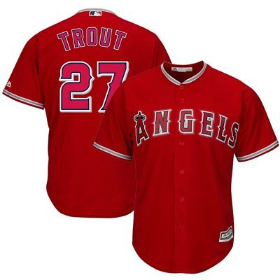MLB Baseball Trikot Jersey Mike Trout Los Angeles Angels Herren Sport Shirt