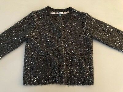 John Lewis Girl Sparkly Sequin Knit Cardigan Age 4 5