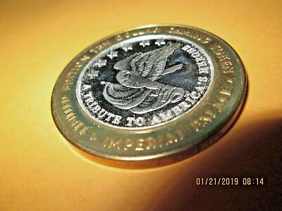 IMPERIAL  PALACE  Casino Silver Strike  $10 .999  SILVER, MINT,G AMER. HERO 2003