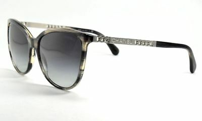 909fa330df Chanel 5352 c.1565 S6 Gray Silver Chain Cat Eye   Gray Gradient Sunglasses