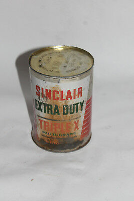 vintage  Sinclair extra duty motor oil  can full