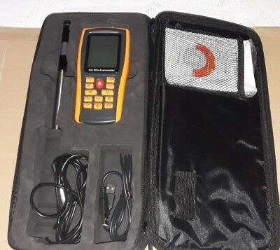 Hot Wire Digital Anemometer Wind Speed Flow Tester, Portable, GM8903