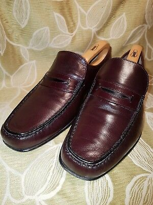 Barker Mens Loafers Size 7 Uk Eu 41 Hand Made English Shoes