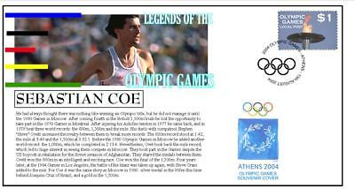 OLYMPIC GAMES LEGENDS COVER, SEBASTIAN COE 1500m