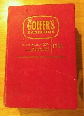GOLFER'S HANDBOOK 1966 WORLDWIDE GOLF RECORDS STATISTICS illust Free UK Shipping