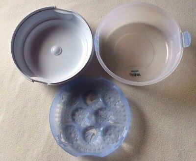 Microwave Steam Sterilizer Phillips Avent Compact Lightweight BPA Free White