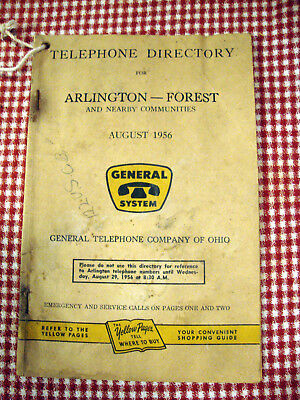 1956 Arlington-Forest Ohio Telephone Directory