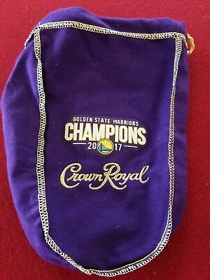 Golden State Warriors Crown Royal Bag 750 Ml Size