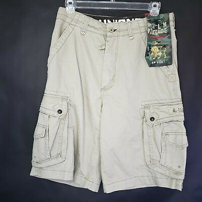 97d9413cf7 Union Bay Palm Vintage Cargo Shorts Size 34 Mens Khaki Tan Casual New With  Tags