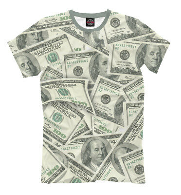 100 USD t-shirt - 100 US dollar American banknotes Money cash big roll currency