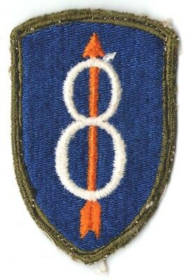 WW II US 8th INFANTRY DIVISION PATCH - OD BORDER