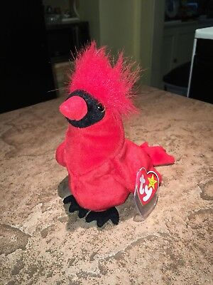 """TY Beanie Baby """"Mac"""" The Cardinal KR – Rare with 3 Errors No Reserve"""