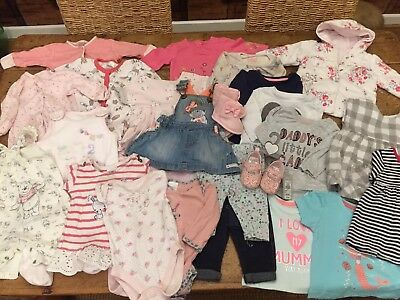 Baby Girl 0-3 Months Clothes Bundle (1)