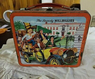 Vintage 1963 Aladdin Beverly Hillbillies Metal Lunchbox & Thermos