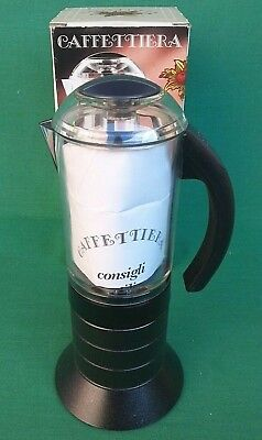 Caffettiera Biesse Made In Italy Design Pino Spagnolo, 6 Tazze. N° 34P.