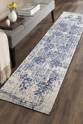 Hallway Runner Hall Runner Rug Modern Blue 4 Metres Long Premium Edith 253