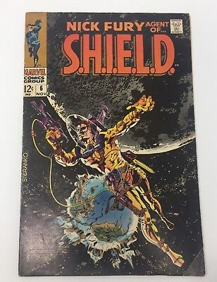 Nick Fury Agent of SHIELD #6 (Marvel,1968) Silver Age Comic