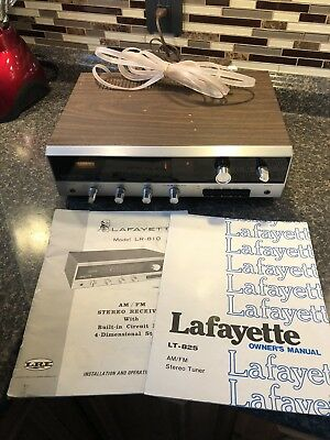 Vintage Lafayette LR-810 Solid State Stereo Receiver w Manual TESTED! LT-825