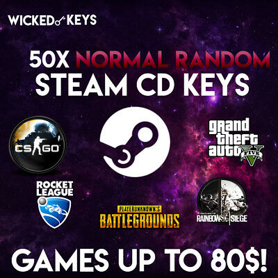 50x Random NORMAL Steam CD Game Keys - UP TO 300$ IN VALUE!