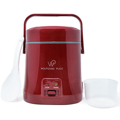 Wolfgang Puck Portable Rice Cooker 1.5 Cup, Red