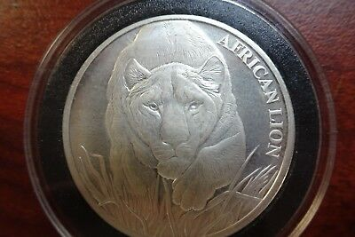 2017 Republic of Chad 5000 Francs 1 oz Silver African Lion NGC MS69 ER SKU43312
