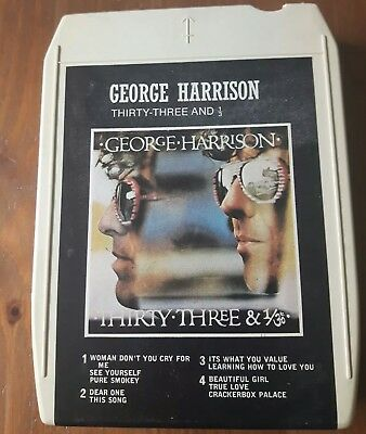 George Harrison- Thirty-Three And 1/3 8 Track Cartridge 1976 WEA Records