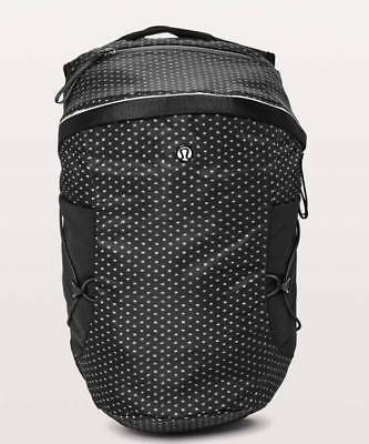 9e083d4418 Lululemon Women s Run All Day Backpack II IKND BLK Ikat Needle Dot Grey  Black