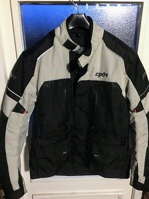 DXR Roadtrip Textile Jacket - Black / Grey XL Extra Large