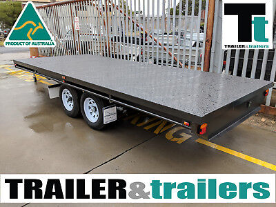 10X7 Tandem Axle Heavy Duty Flat Top/Flatbed/Table Top Trailer + Spare Wheel