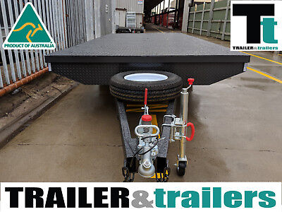 14X8 Tandem Axle Heavy Duty Flat Top/Flatbed/Table Top Trailer + Spare + Jockey