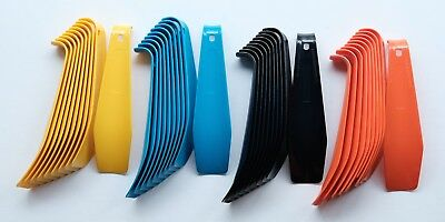"Lot of 10 Plastic Shoe Horns 7"" Made in Italy Milano Sturdy Flexible Men Women"