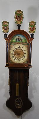 Giant One Weight Dutch Friesian Tail Clock With Carousel Of Riders