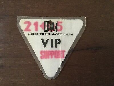"""Depeche Mode Backstage Pass From """"Music For The Masses"""" Tour 87-88"""