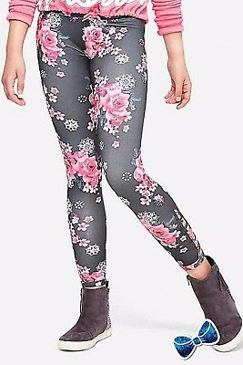 Justice Girls Size 14-16 Floral Lattice Leggings New with Tag