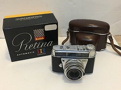 kodak retina automatic iii With Hard Case And Box Xenar F2.8 45mm Lens