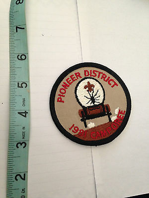 1981 Vintage Boy Scouts Bsa Pioneer District Camporee California Uniform Patch