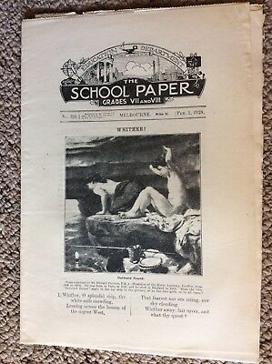 The Scool Paper Education Dept of Victoria Grades VII & VIII February 1928