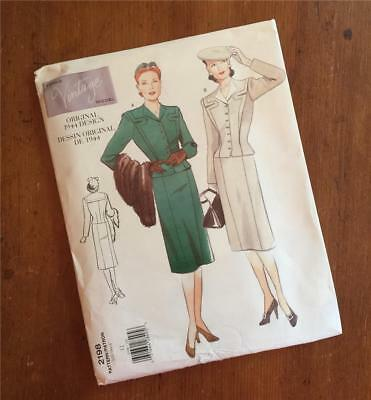 1944 - Vintage Design - VOGUE Sewing Pattern 2198 - Size 12 - 40's Suit - UNCUT