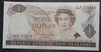New Zealand  1985 -9  $1 Russell  UNC  NICe