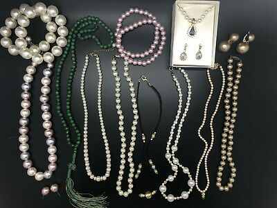 Huge Lot of Vintage & Antique Costume Jewelry Necklace, Bracelets, Earrings
