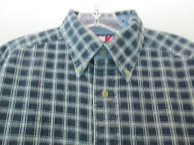5f9ff6b33 Corduroy Tommy Hilfiger Men's Size Small Long Sleeve Plaid Button Front  Shirt